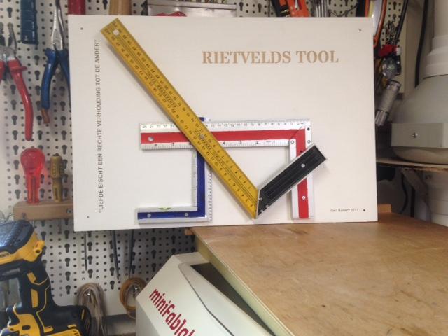Miniatuur Rietveld Stoel : Maker rietveld s tool by bart bakker fablab benelux